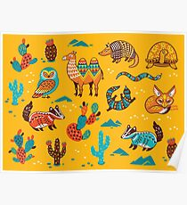Desert animals Poster