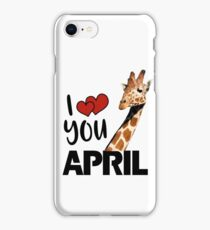 April The Giraffe T Shirt iPhone Case/Skin