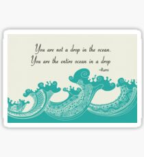 Rumi Ocean Drop Quote Sticker