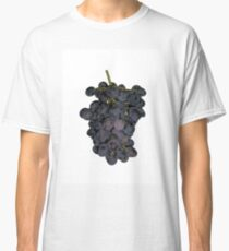 Bunch of blue grapes on a white background Classic T-Shirt