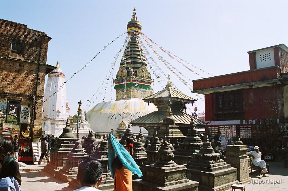 Buddhist Stupa in Kathmandu by JyapuNepal