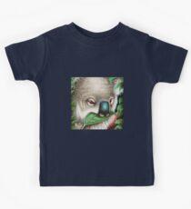 Cute Koala Munching a Leaf Kids Clothes