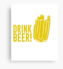 Save Water Drink Beer - St Patrick Day Canvas Print