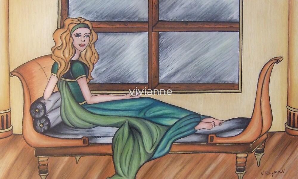 Reclining By Window by vivianne