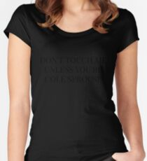 Don't Touch Me Unless You're: Cole Sprouse Women's Fitted Scoop T-Shirt
