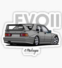 Mercedes 190E Evo II (silver) Sticker