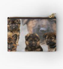 German Shepherd Puppy Collage Studio Pouch