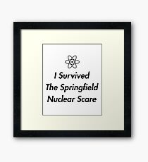i survived the springfield nuclear scare Framed Print