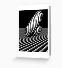 3d abstract stripe play Greeting Card