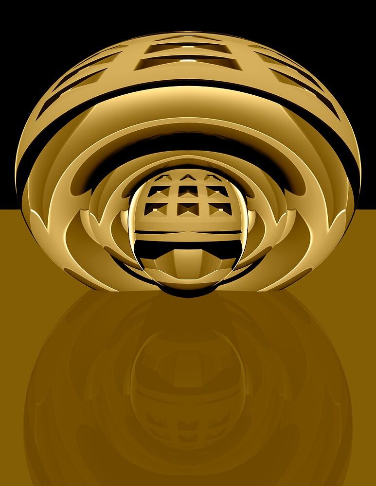 3d abstract techno brass by pelmof