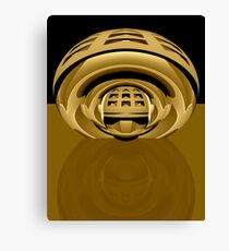 3d abstract techno brass Canvas Print