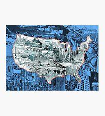 united states map Photographic Print
