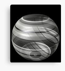 3d glistening illusion bowl Canvas Print