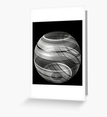 3d glistening illusion bowl Greeting Card