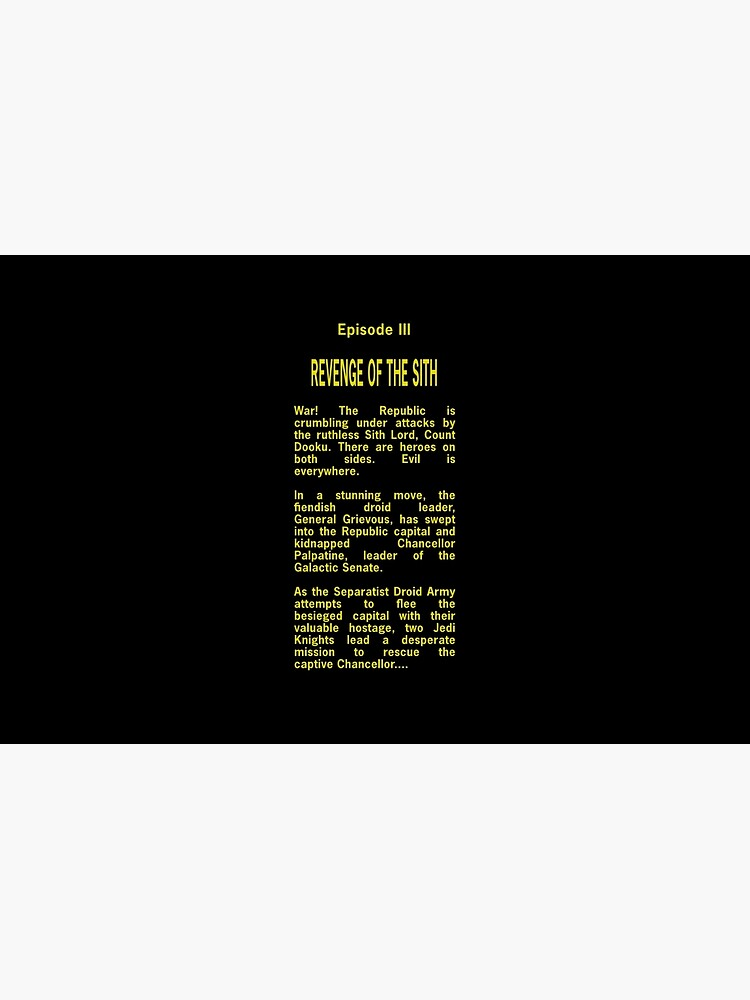Episode Iii Opening Crawl Text Laptop Skin By Unconart Redbubble
