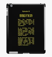 Episode III Opening Crawl Text iPad Case/Skin