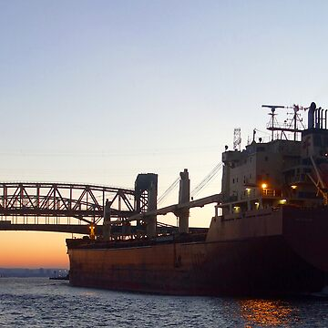 Cargo Ship at Twilight by janr34