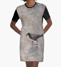 Crow Carries Graphic T-Shirt Dress