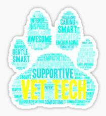 Vet Tech Mug - Cool Word Cloud for Veterinarians, Medical Student, Animal Lover  Sticker