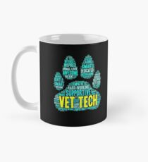 Vet Tech Mug - Cool Word Cloud for Veterinarians, Medical Student, Animal Lover  Mug