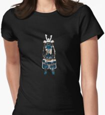 Sitting Samurai Womens Fitted T-Shirt