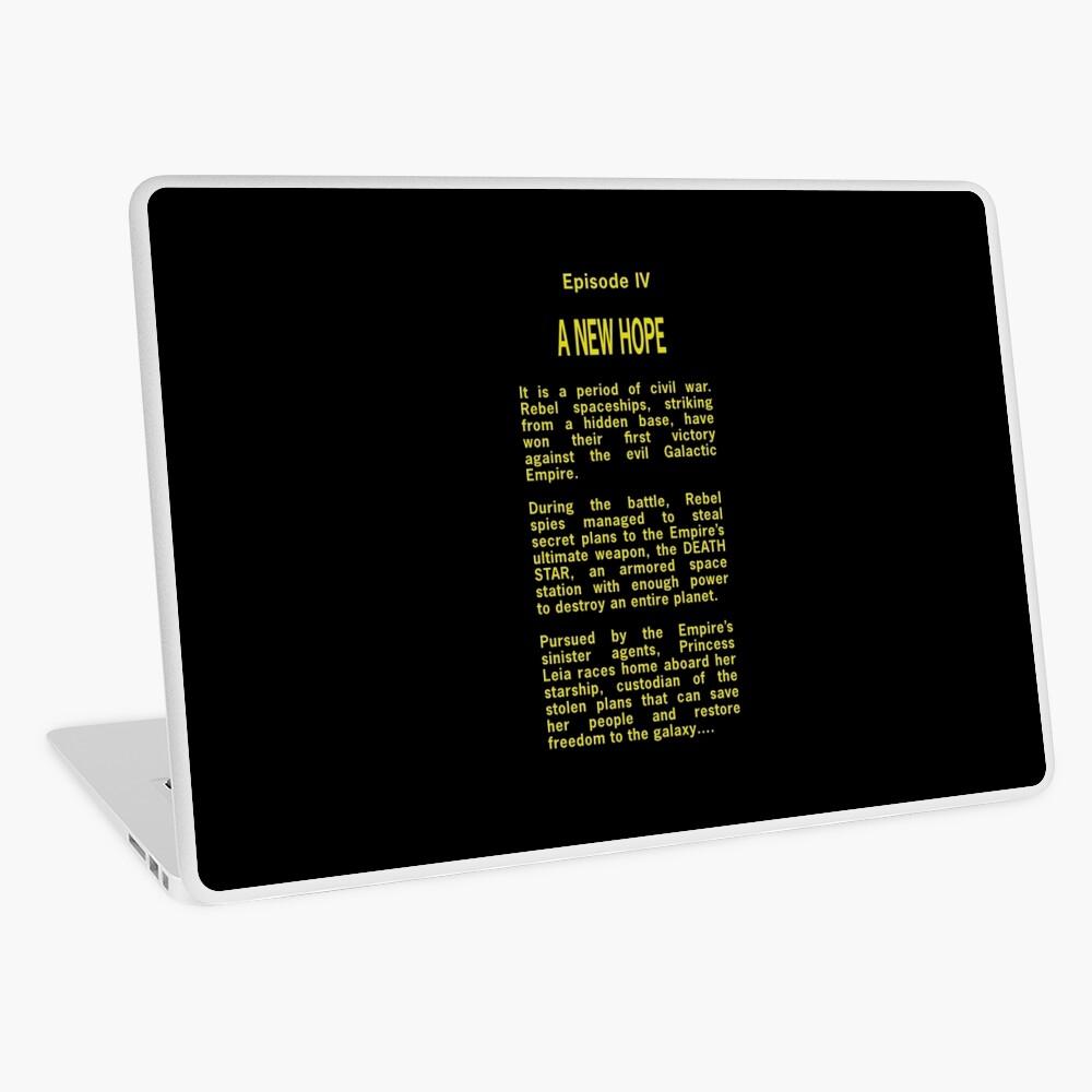 Episode Iv Opening Crawl Text Laptop Skin By Unconart Redbubble