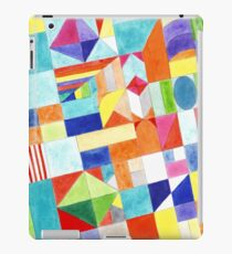 Playful Colorful Architectural Pattern  iPad Case/Skin