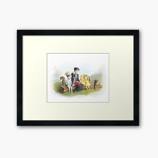 Classic Storybook Characters Framed Art Print