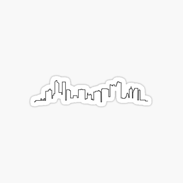 Denver, Colorado City Skyline Sticker