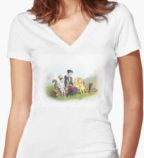 Classic Storybook Characters Women's Fitted V-Neck T-Shirt