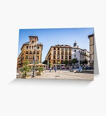 Ramales Square in Madrid Greeting Card