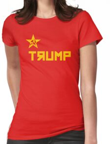 trump CCCP Russian Flag Womens Fitted T-Shirt