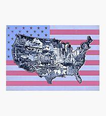 united states map 2 Photographic Print