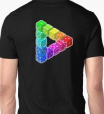DICE, Triangle, ILLUSION, Optical illusion, visual illusion, weird, odd, Cube, Unisex T-Shirt