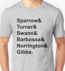 Movie: Pirates of the Caribbean (& Style) Unisex T-Shirt
