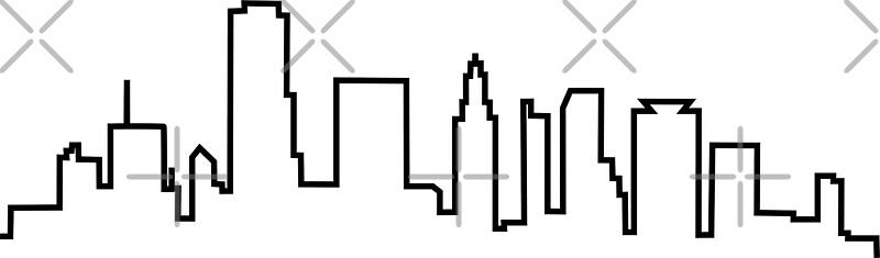 Quot Houston Texas City Skyline Quot Stickers By Ashleylcoop
