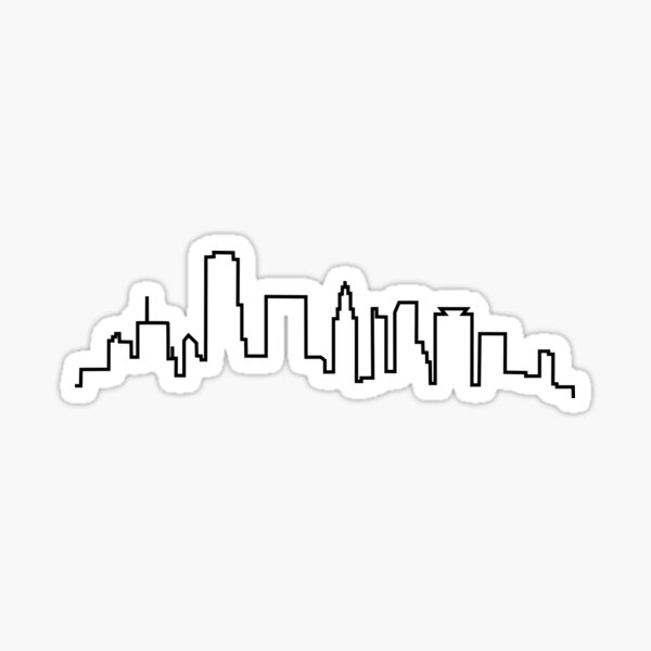 Houston, Texas City Skyline Sticker