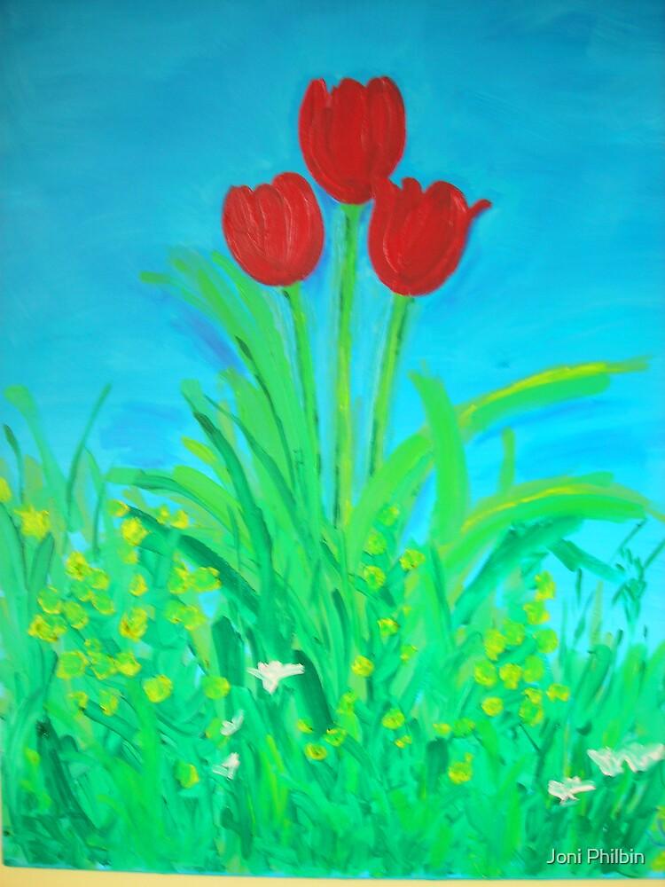 My Three Tulips by Joni Philbin