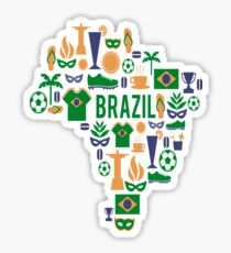 T shirt Brazil Carnaval Sticker
