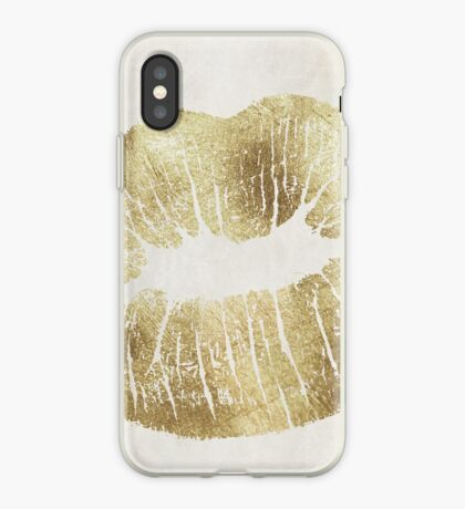Hollywood Kiss Gold iPhone Case