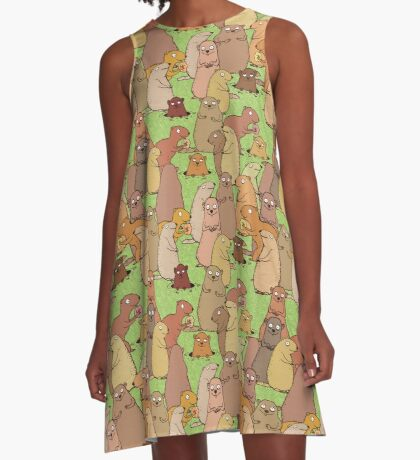 Wake up Groundhogs! A-Line Dress