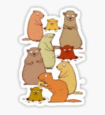 Wake up Groundhogs! Sticker
