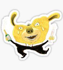 Good Times Golden Dog Celebration Sticker