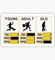young adult old Sticker