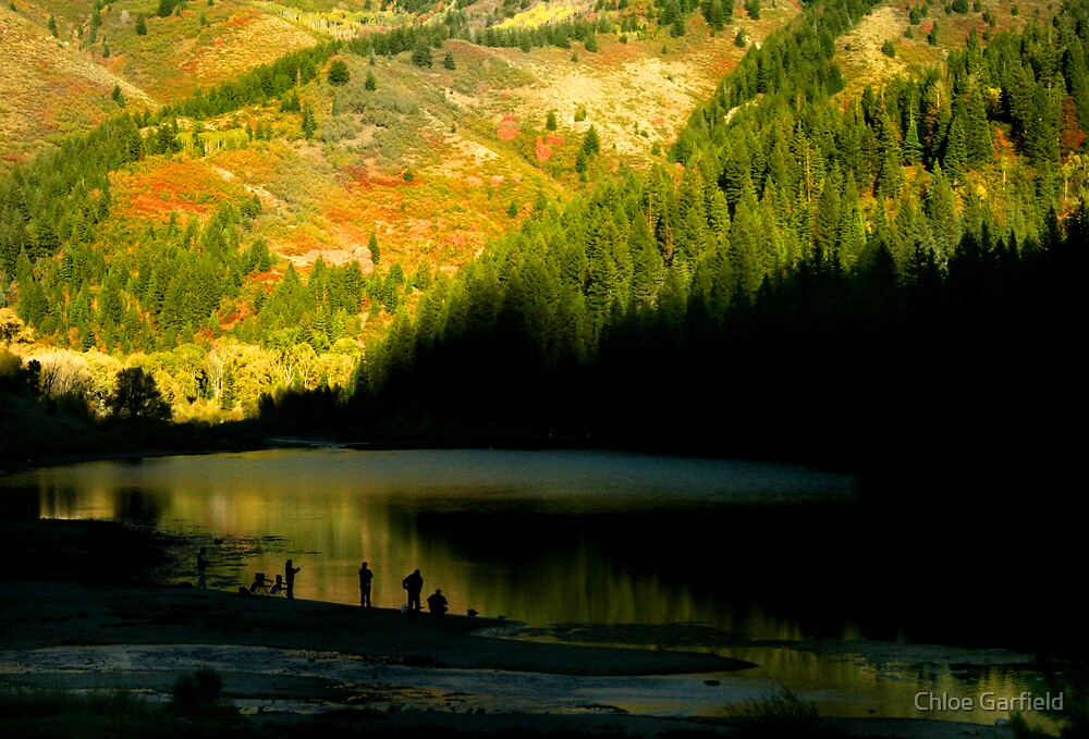 Lakeside Fishing by Chloe Garfield