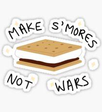 Make S'mores Not Wars Sticker