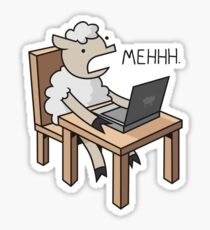 A sheep's reaction to everything Sticker