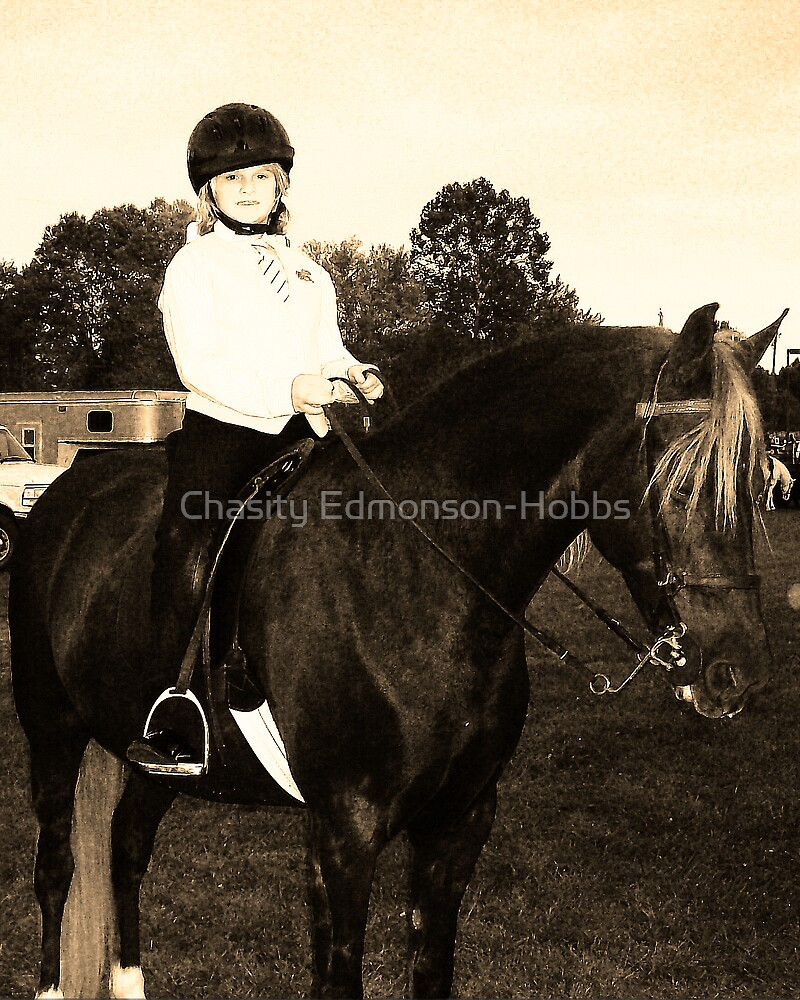 Young Jockey in Black & White by Chasity Edmonson-Hobbs