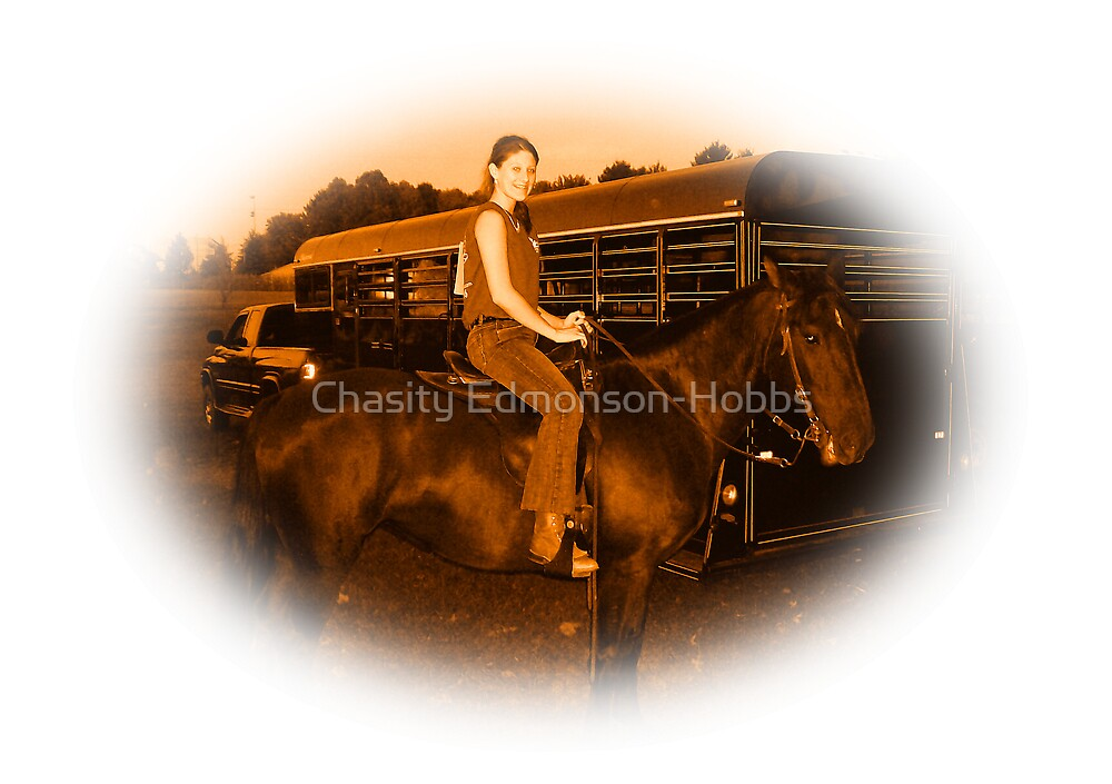 Young Jockey in sepia by Chasity Edmonson-Hobbs