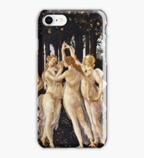 Botticelli - La Primavera (Spring) (1481 - 1482) iPhone Case/Skin